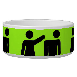 Funny Girls Rule Neon Lime Green Girl Power Dog Water Bowl
