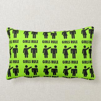 Funny Girls Rule Neon Lime Green Girl Power Pillows