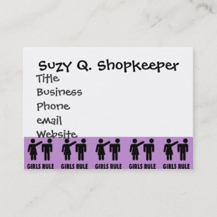 Girl power business cards templates zazzle funny girls rule purple girl power feminist gifts business card colourmoves