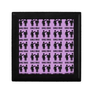Funny Girls Rule Purple Girl Power Feminist Gifts Gift Box