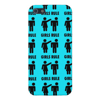 Funny Girls Rule Teal Turquoise Blue Girl Power iPhone 5 Cover