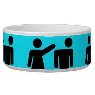 Funny Girls Rule Teal Turquoise Blue Girl Power Dog Bowl