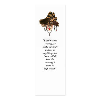 Funny Girly Bookmark Double-Sided Mini Business Cards (Pack Of 20)