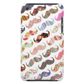 Funny Girly Colorful Patterns Mustaches iPod Touch Case-Mate Case