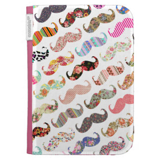 Funny Girly  Colorful Patterns Mustaches Kindle Keyboard Covers