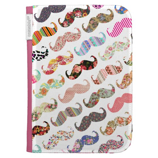 Funny Girly  Colorful Patterns Mustaches Cases For The Kindle