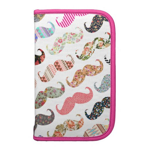 Funny Girly  Colorful Patterns Mustaches Organizers