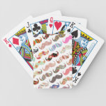 Funny Girly  Colorful Patterns Mustaches Poker Cards