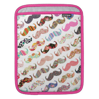 Funny Girly  Colorful Patterns Mustaches Sleeves For iPads