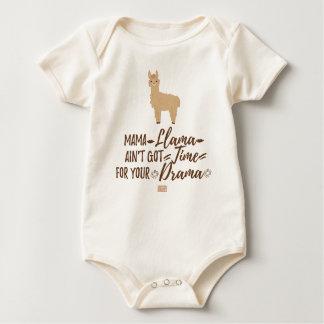 Funny Girly Mama Llama Ain't Got Time Your Drama Baby Bodysuit