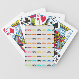 Funny Girly Mustache 2 Bicycle Playing Cards