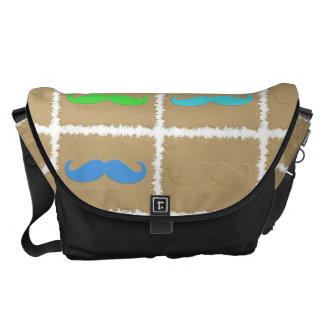 Funny Girly Mustache 3 Messenger Bag