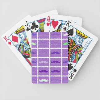 Funny Girly Mustache 4 Bicycle Playing Cards