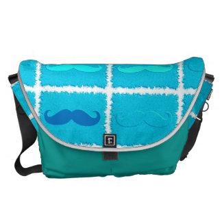 Funny Girly Mustache 7 Messenger Bag