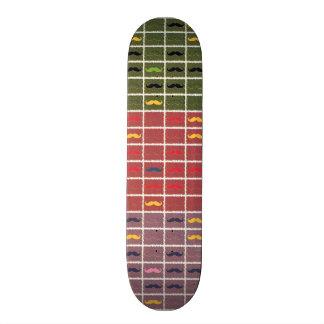 Funny Girly Mustache Skateboard