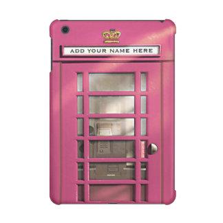 Funny Girly Pink British Phone Box Personalized iPad Mini Covers