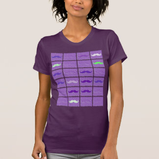 Funny Girly Purple Mustaches T-Shirt