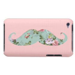 Case-Mate iPod Touch Barely There Case with Girly Flower Pattern Moustache design