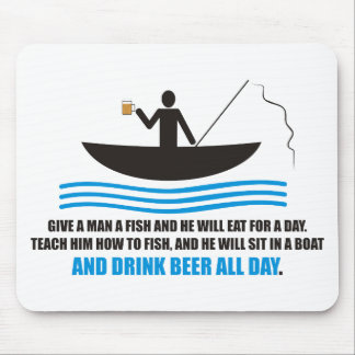 Funny - Give a man a fish and he will eat for a da Mouse Pad