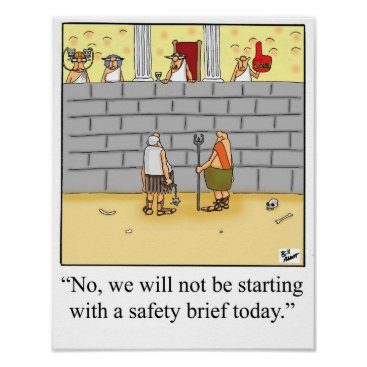 Art Themed Funny Gladiator  Safety Brief Poster