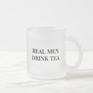 Funny glass mug for guys | Real men drink tea