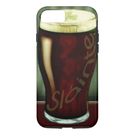 Funny Glass Of Irish Stout Slainte iPhone 8/7 Case