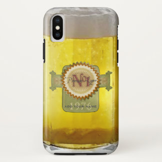 Funny Glass Of Lager iPhone X Case