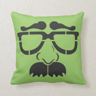 Funny Glasses and Mustache Pillow