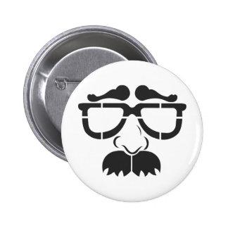 Funny Glasses and Mustache Pinback Button