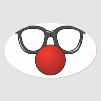 Funny Glasses With Red Funny Nose Stickers