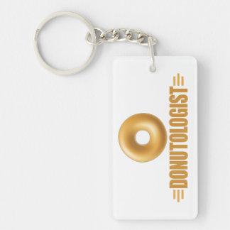 Funny Glazed Donut Lover Keychain