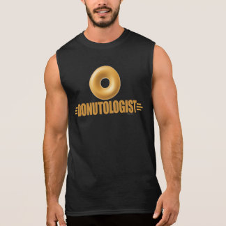 Funny Glazed Donut Lover Sleeveless Shirt