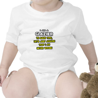 Funny Glazier T-Shirts and Gifts Rompers