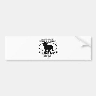 Funny glen designs bumper sticker