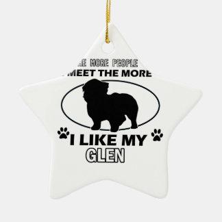 Funny glen designs ceramic ornament