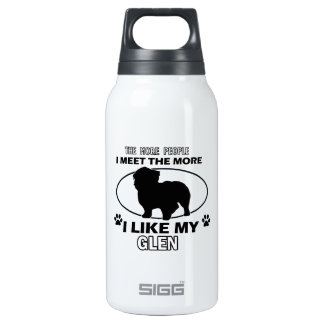 Funny glen designs insulated water bottle