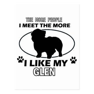 Funny glen designs postcard