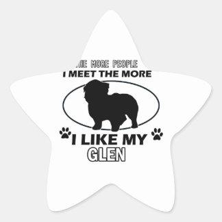 Funny glen designs star sticker