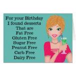 Funny Gluten Free Birthday Card