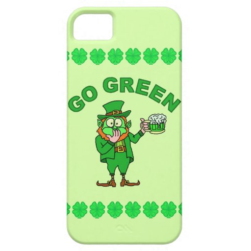 "Funny ""Go Green"" Drunk Leprechaun iPhone SE/5/5s Case"