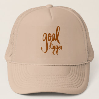 FUNNY GOAL DIGGER PLAY ON WORDS ATTITUDE MOTIVATIO TRUCKER HAT