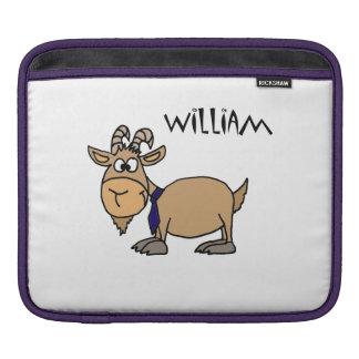 Funny Goat and Tie Cartoon iPad Sleeve
