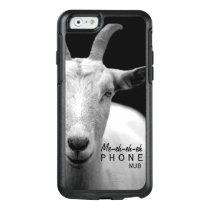 "Funny Goat Animal Sound ""My Phone"" monogram OtterBox iPhone 6/6s Case"
