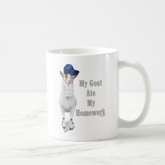 Funny Goat Ate My Homework Mug