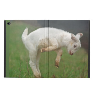 Funny Goat Baby White Goat Jumping in Pasture Powis iPad Air 2 Case