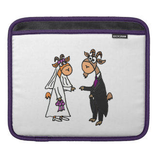 Funny Goat Bride and Groom Wedding Sleeve For iPads