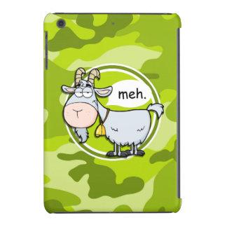 Funny Goat; bright green camo, camouflage iPad Mini Retina Case