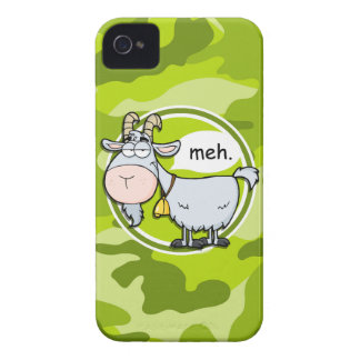 Funny Goat; bright green camo, camouflage iPhone 4 Case-Mate Case