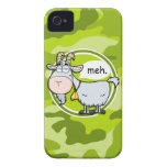 Funny Goat; bright green camo, camouflage Case-Mate iPhone 4 Case