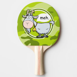 Funny Goat; bright green camo, camouflage Ping Pong Paddle